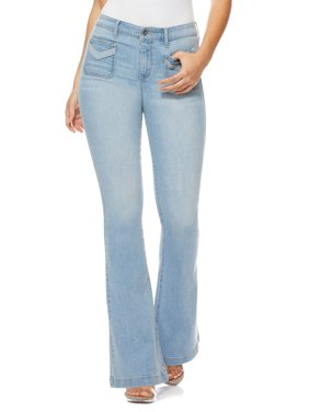 Sofia Jeans by Sofia Vergara Melisa Flare High Waist Front Pocket Stretch Jeans, Women's