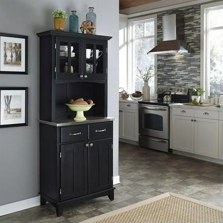 Kingfisher Lane Buffet with 2 Door Panel Hutch in Black