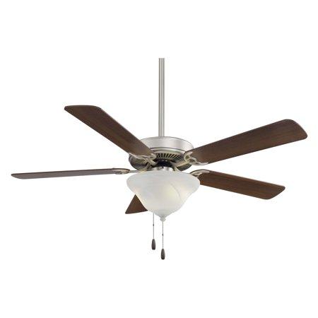 Contractor 52 Fan (Minka Aire F648-BS Contractor 52 in. Indoor Ceiling Fan - Brushed Steel )