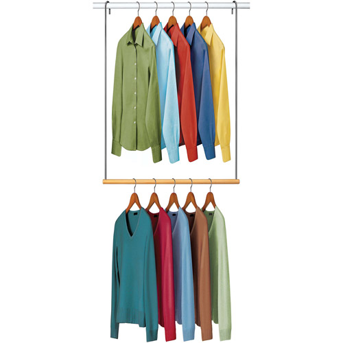 Lynk Double Hang Closet Rod Organizer, Clothing Hanginu2026