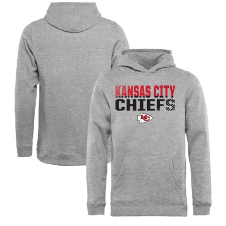 separation shoes 6cf3a 33279 Kansas City Chiefs NFL Pro Line by Fanatics Branded Youth Iconic Collection  Fade Out Pullover Hoodie - Ash
