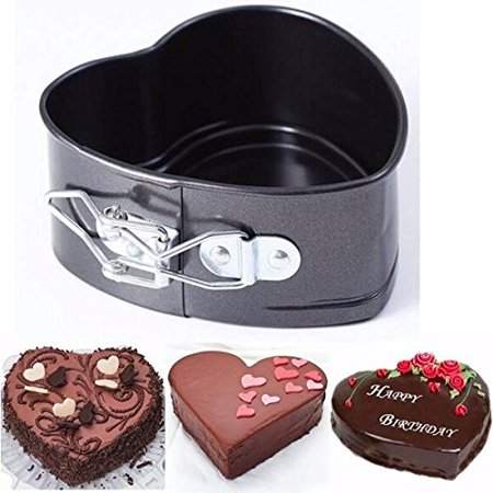 Heart Shape Cake Pan,4 Inches Springform Bakeware Pan Non-Stick Mini Cake Pan Leakproof Cheesecake Pan Mould Baking Tools with Removable Smooth Bottom,
