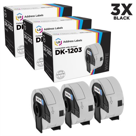 LD Compatible Brother DK1203 White Labels: 0.66 x 3.4 3PK for P-Touch