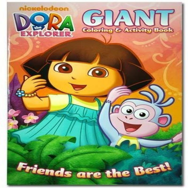 2pk Dora the Explorer 11x16 Giant Coloring & Activity Book, 16 Pgs by