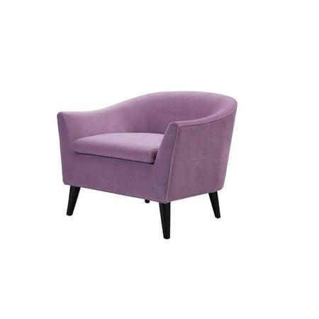 Lia Mid-Century Barrel Accent Chair Lavender - image 10 de 10