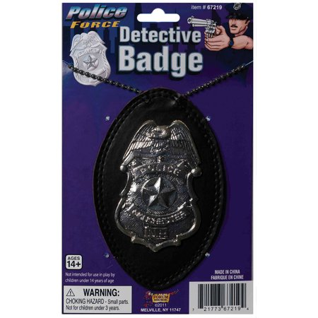 Morris Costumes Deluxe Detective Badge, Style FM67219 - Detective Costumes