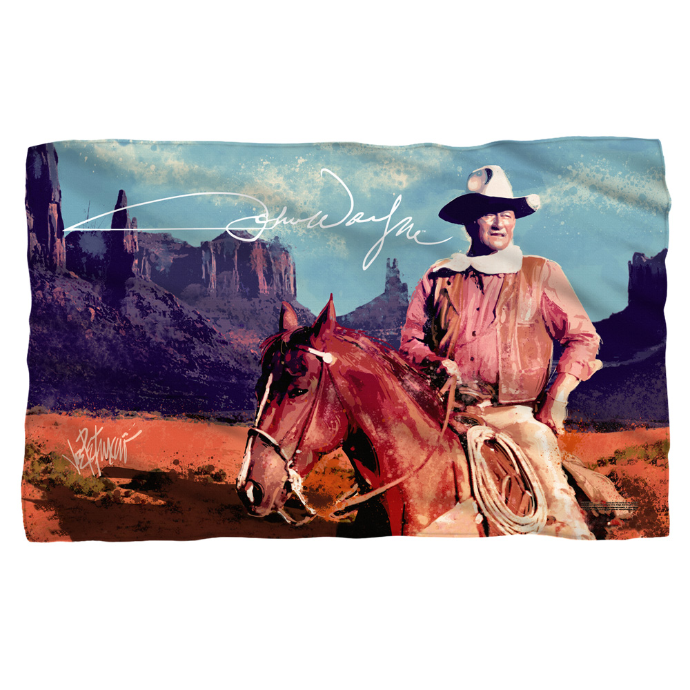 John Wayne Monument Man Poly 36X60 Blanket White One Size