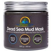 Dead Sea Mud Mask for Deep Pore Cleansing, Acne Treatment, Anti Aging & Anti Wrinkle, Organic Natural Facial Mask, Smoothes and Softens Skin, Levels Marks (250g/8.8oz)