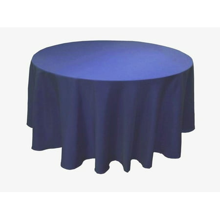 "6 Pack 132"" Inch round Polyester Tablecloth 24 COLOR Table Cover Wedding Banquet"", (Color: Navy)"