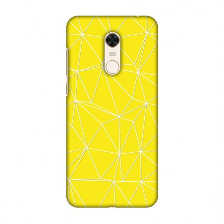 Xiaomi Redmi Note 5 Case - Carbon Fibre Redux Cyber Yellow 11, Hard Plastic Back Cover, Slim Profile Cute Printed Designer Snap on Case with Screen Cleaning Kit
