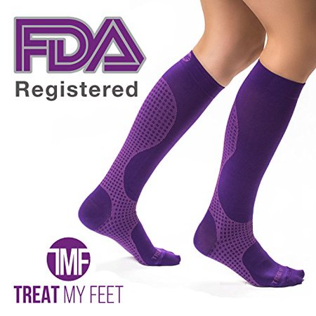 0fdab2881 Compression Socks for Men & Women - Graduated Knee-High compression  Stockings relieve calf, leg, & foot pain FDA Registered, Nurse and Runner  recommended ...