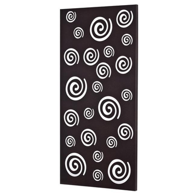 Metal Decor WA-5000-SIL Spirals Platinum Silver Metal Mirror & Wall Decor Art