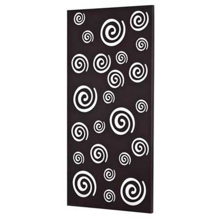 Metal Decor WA-5000-SIL Spirals Platinum Silver Metal Mirror & Wall Decor Art