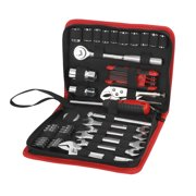 Hyper Tough 51-Piece Auto and Motorcycle Mechanic's Tool Kit