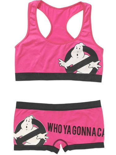 Ghostbusters Juniors License Bralette and Seamless Boyshort 2 Piece Sleep Set