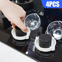 Stove Knob Covers, EEEKit 4pcs Transparent & Heat Resistant Safety Children Kitchen Stove Knob Covers for Toddler Child Baby Protection, Home Kitchen Cooker Gas Stove Security Knob Cover Guards Locks