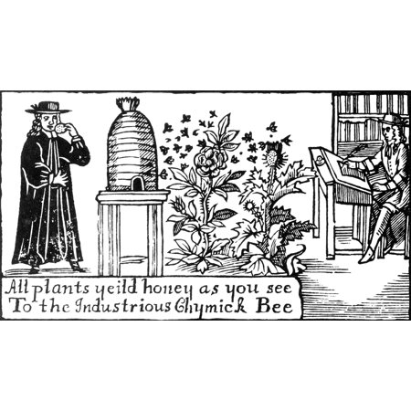 Apiculture Beekeeping 18 Century Poster Print by Science Source