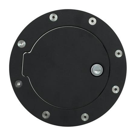 - Gas Door Lock, Replacement 2006 Ford F150 Gas Door Cover Aluminum - Black