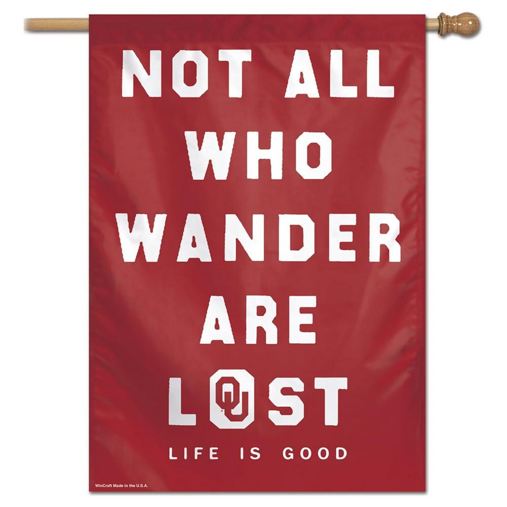 University of Oklahoma Sooners Flag Life is Good Not All Who Wander Are Lost Banner