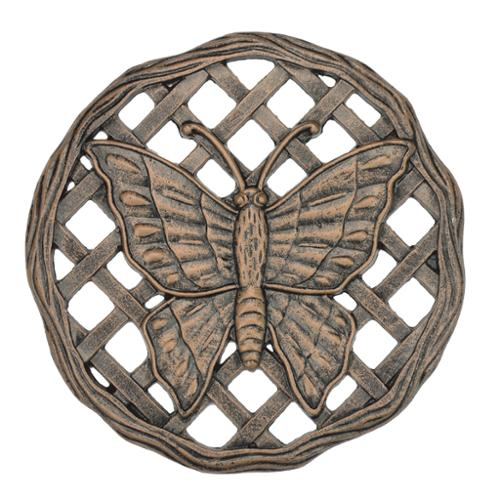 Cast Aluminum Butterfly Stepping Stone (Pack of 6) Antique Bronze Color, 6 Pack of Stepping Stones by Oakland Living Corp