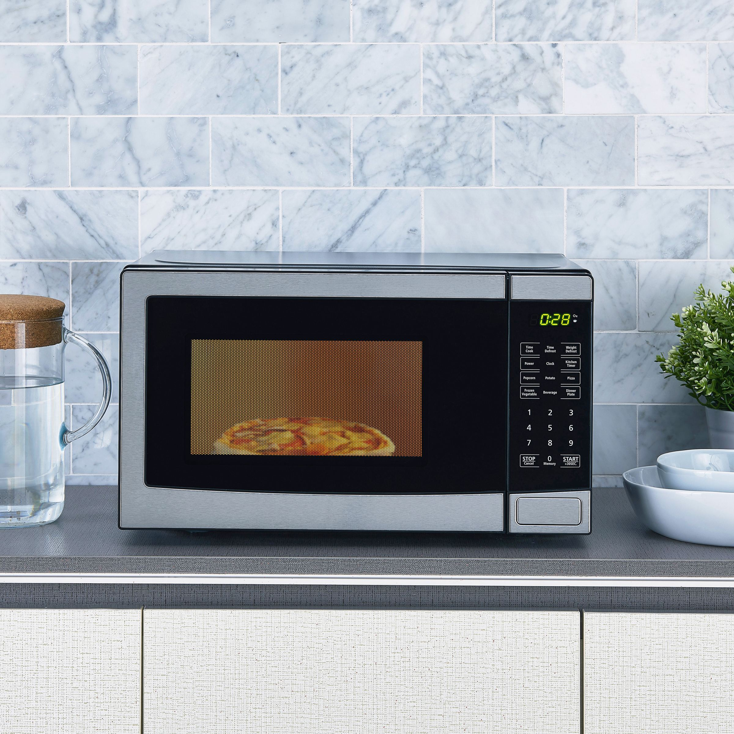 700 Watt Microwave Stainless Steel With 10 Levels
