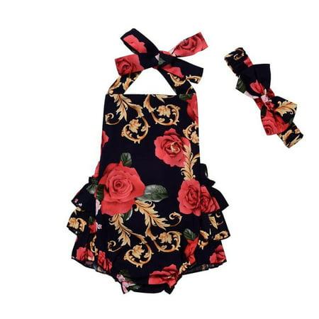 BOBORA Toddler Girls Sleeveless Tops Pants Headband Jumpsuit](Toddler Jumpsuit)
