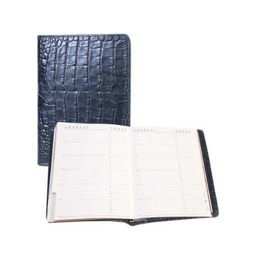 Scully Black Croco Leather Tel/Address Book Organizer Bus...