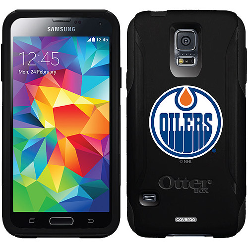 Edmonton Oilers Oilers Circle Design on OtterBox Commuter Series Case for Samsung Galaxy S5