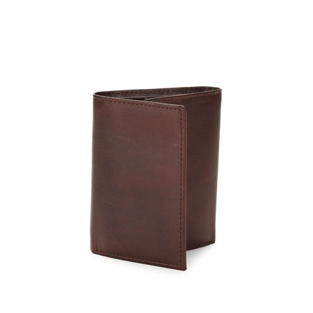RFID-Protection Leather Tri-Fold Wallet