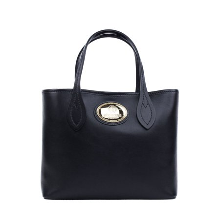 Roberto Cavalli Women's Firenze Black Small Leather Shopping Tote Bag