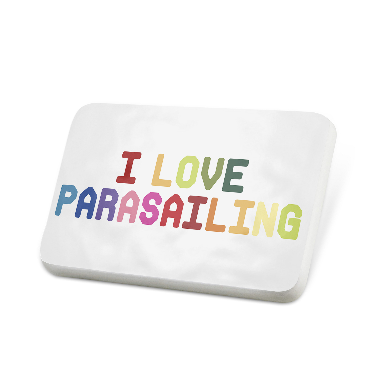 Porcelein Pin I Love Parasailing,Colorful Lapel Badge – NEONBLOND