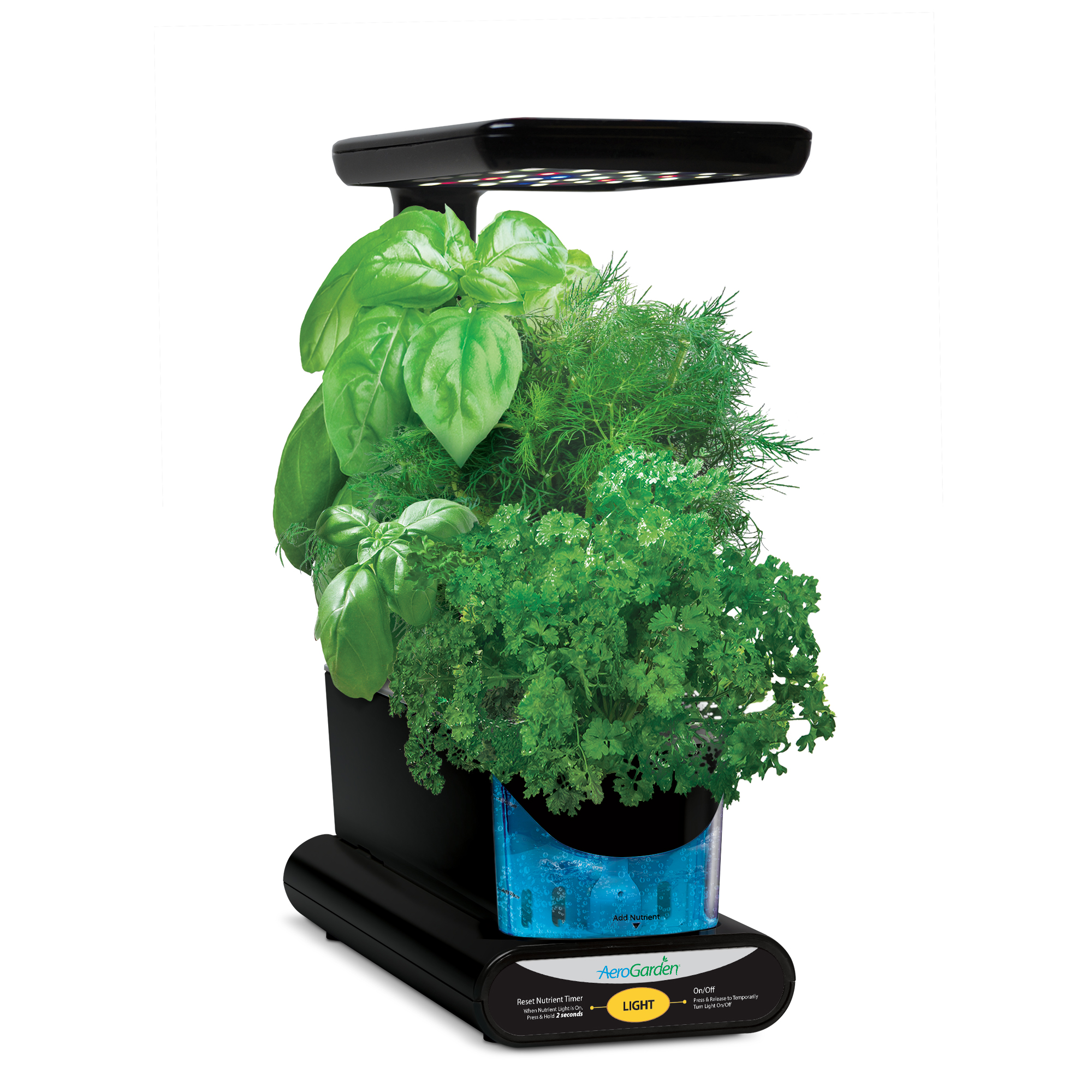 Miracle-Gro AeroGarden Sprout LED, Black with Gourmet Herbs