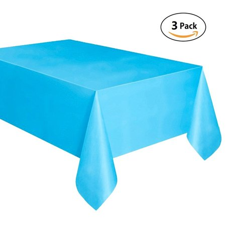 3 Pack Disposable Tablecloth 54108 Rectangle Plastic Party Table