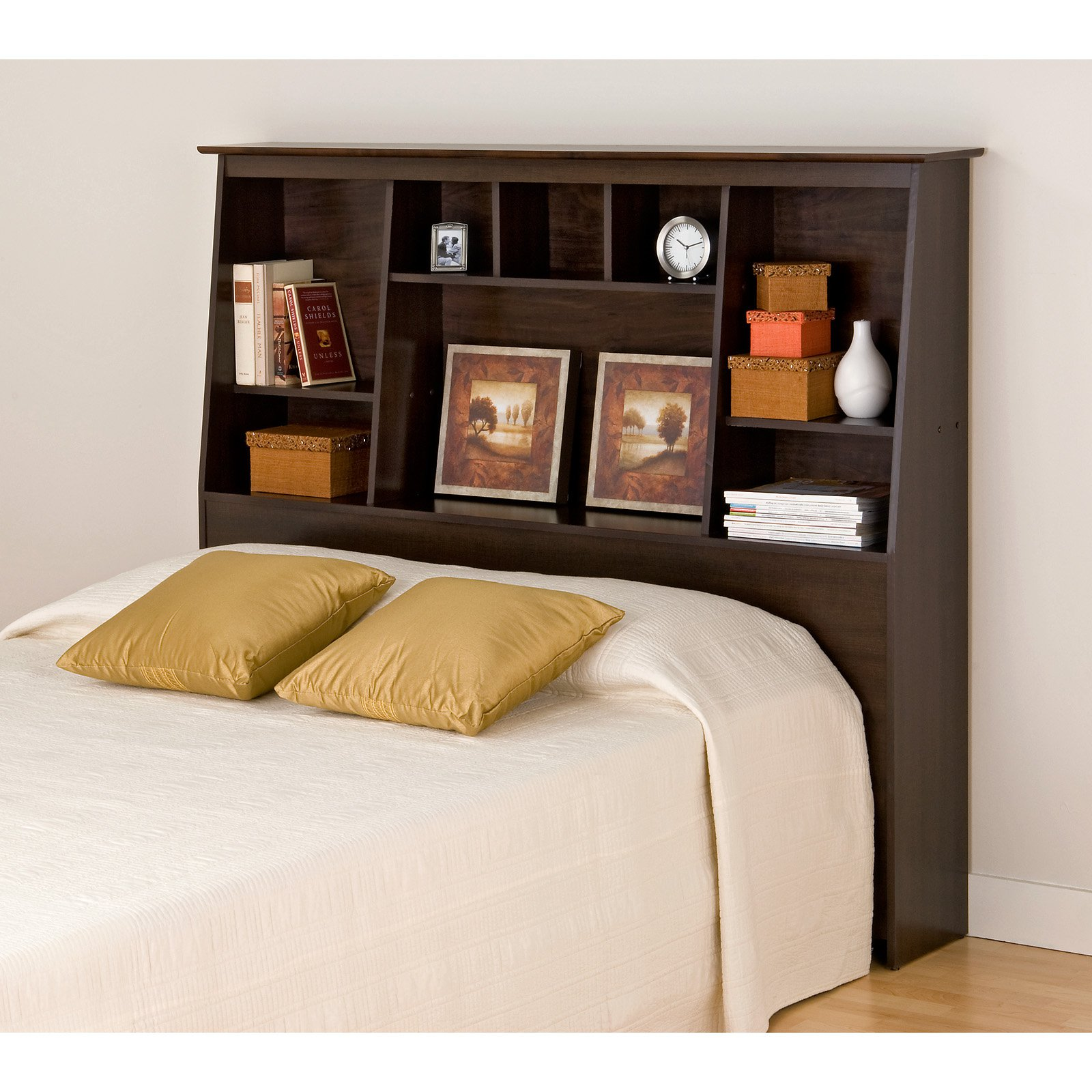Prepac Sonoma Tall Double/Queen Storage Headboard, Multiple Colors