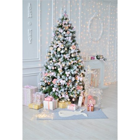 GreenDecor Polyster 5x7ft Beautiful Xmas Tree Photography Studio Backdrops Chic Christmas Gifts Photo Shoot Background Indoor Scene Video Props Girl Toddler Infant Baby Lovers Artistic Portrait - Halloween Photo Shoot Ideas For Infants