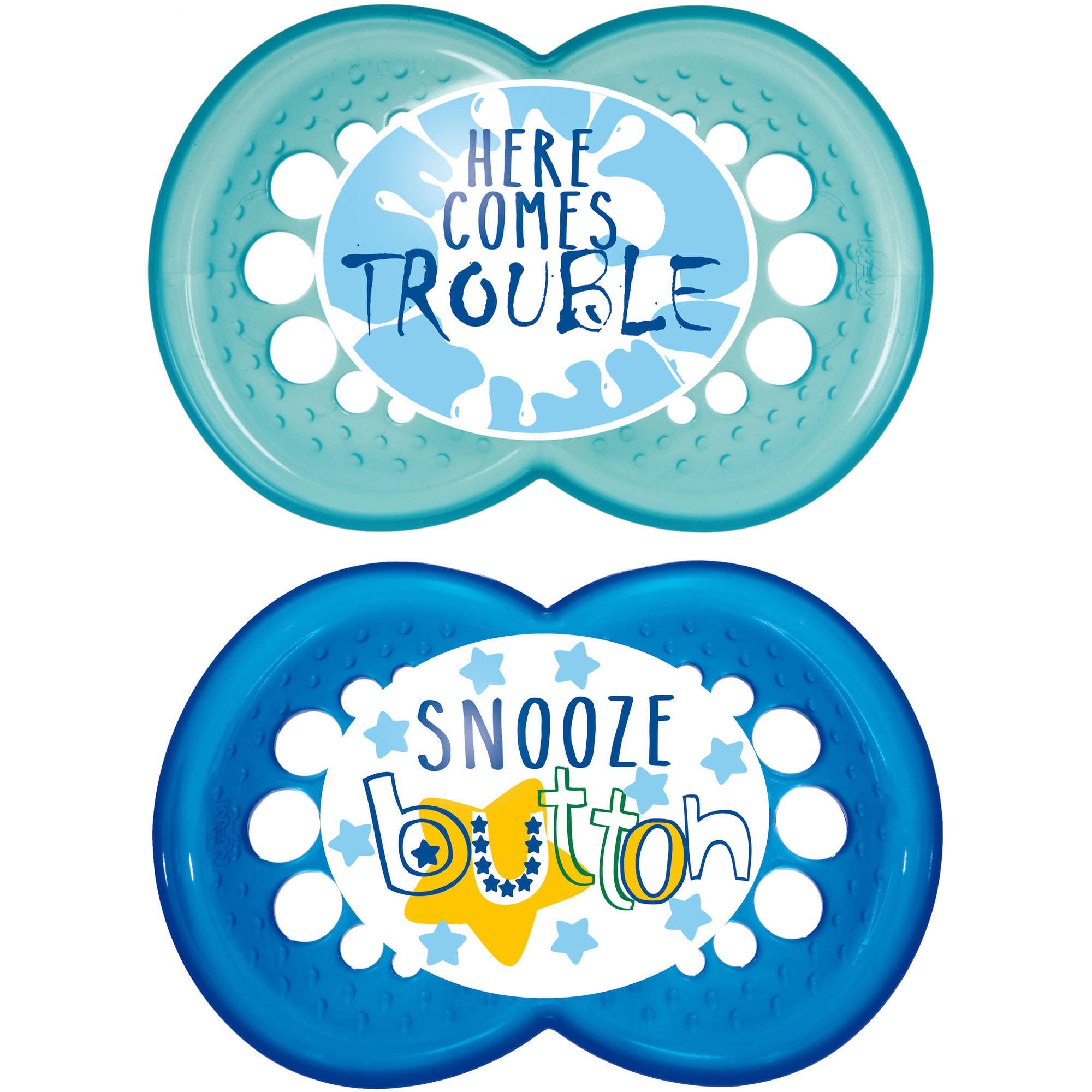 MAM Attitude Orthodontic Pacifier, 6+ Months, 2-Count
