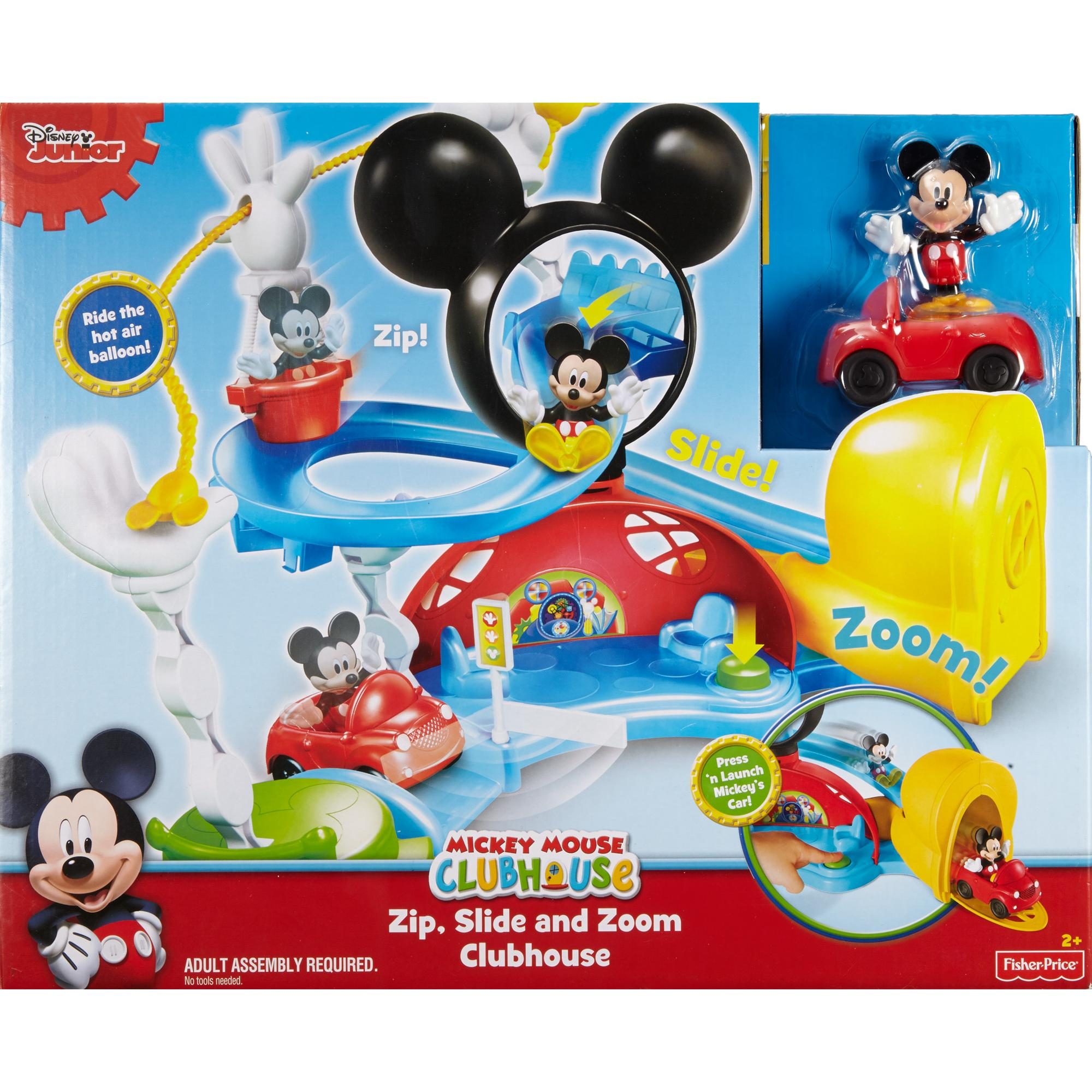 Fisher Price Disney Mickey Mouse Clubhouse, Zip, Slide And Zoom Clubhouse