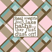 Forest Creations Real Cowgirls Don't Take Baths Kids Canvas Art