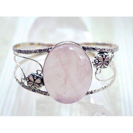 Laminated Poster Gem Rose Quartz Stone Jewelry Bracelet Pink Cuff Poster Print 24 x 36