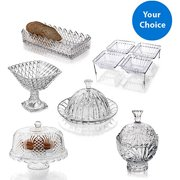 Crystal Clear Alexandria Cheese Dome Set