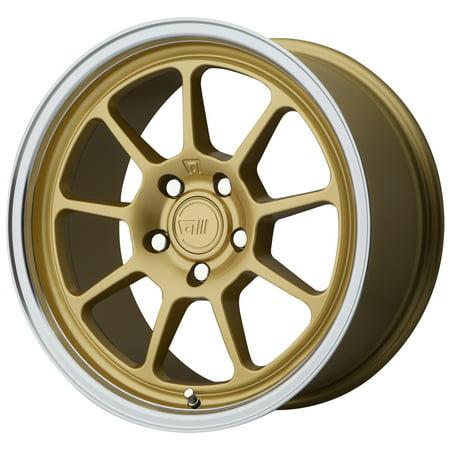 Motegi MR135 18x8.5 5x112 +25mm Gold Wheel Rim 18
