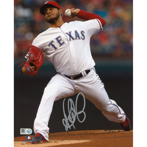 "Martin Perez Texas Rangers Fanatics Authentic Autographed 8"" x 10"" Pitching White Photograph - No Size"