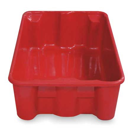 Heavy Duty Stack and Nest Container, Red ,Molded Fiberglass, 7804085280