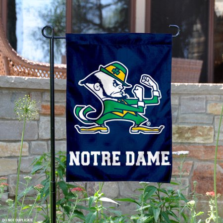 "Notre Dame Fighting Irish Leprechaun 13"" x 18"" College Garden Flag"