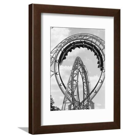 1970s Roller Coaster Amusement Park Ride Framed Print Wall Art ()