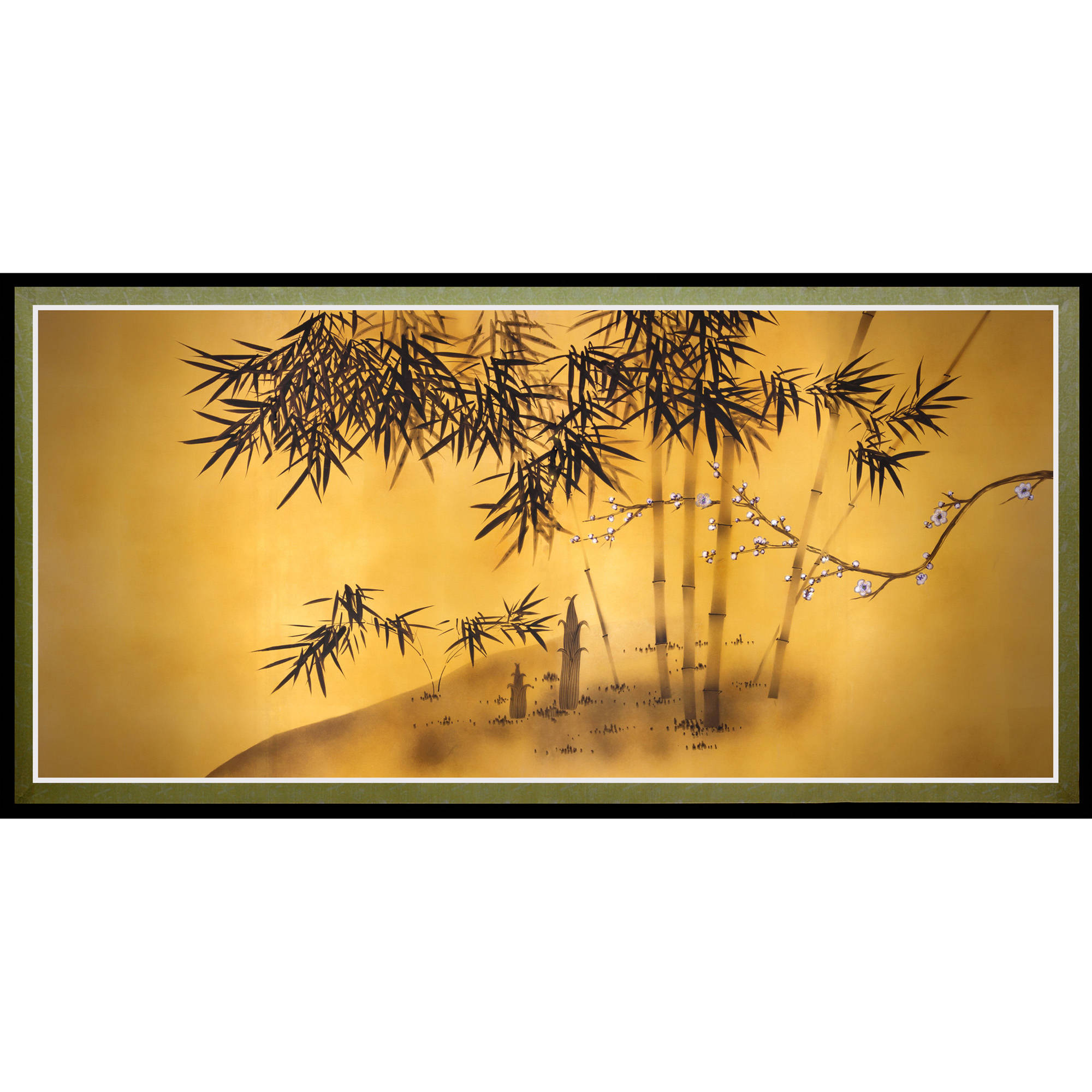 Bamboo Tree Canvas Wall Art
