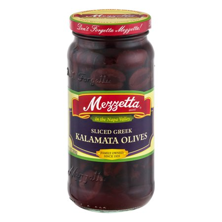 (3 Pack) Mezzetta Kalamata Olives Sliced Greek, 9.5 OZ