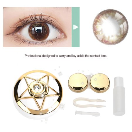 81eff668e9b7 WALFRONT 3 Colors Portable Contact Lens Box with Mirror Pentagram Shape  Lenses Container Case, Lenses Box,Lenses Box