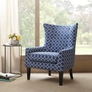 Madison Park Carissa Wing Chair In Blue