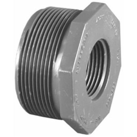 PVC 08200 4800HA 2 x 1.50 in. PVC Schedule 80 Male Pipe Thread Reducer Bushing, Gray